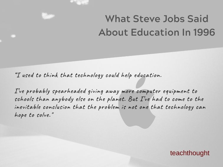 What Steve Jobs Said About Education