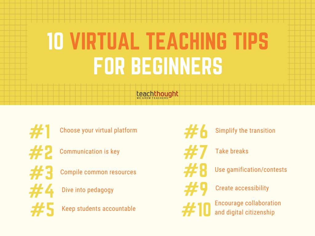 Virtual Teaching Tips For Beginners