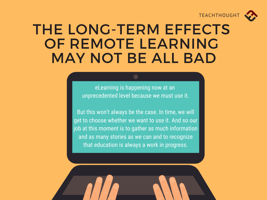 The Long-Term Effects Of Remote Learning May Not Be All Bad