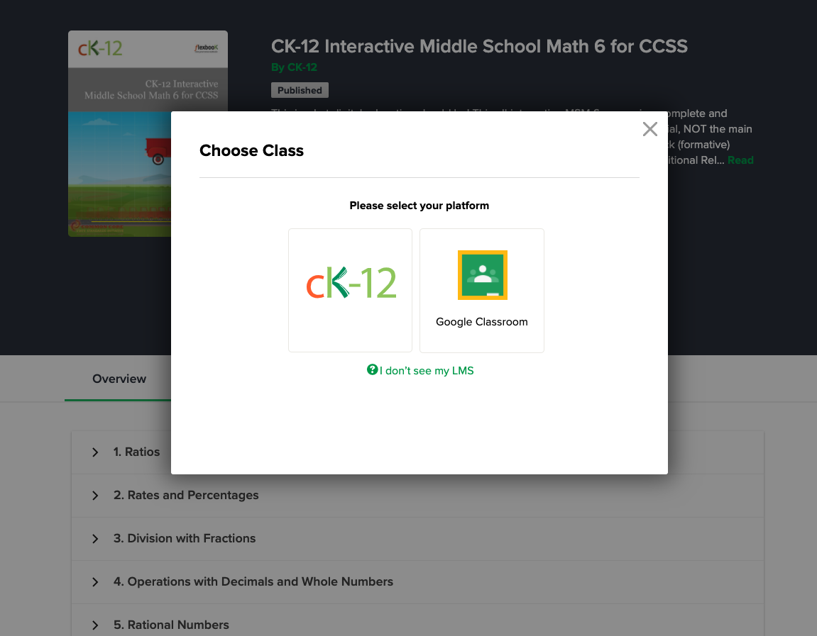 How To Share Content Between Google Classroom And CK-12