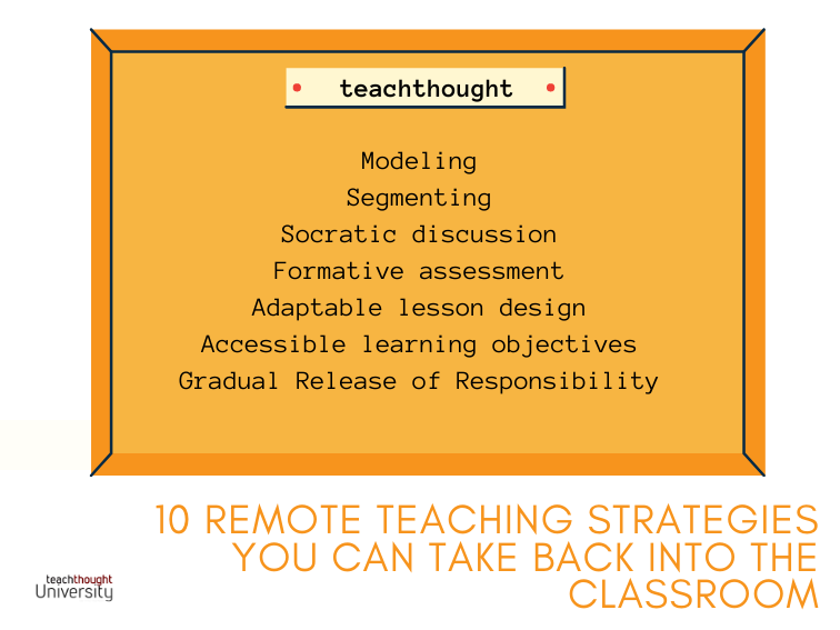 Remote Teaching Strategies