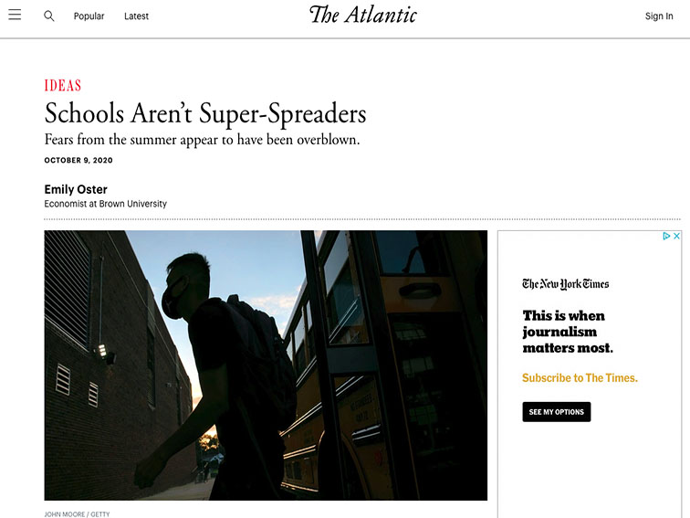 image of newspaper headline from the Atlantic