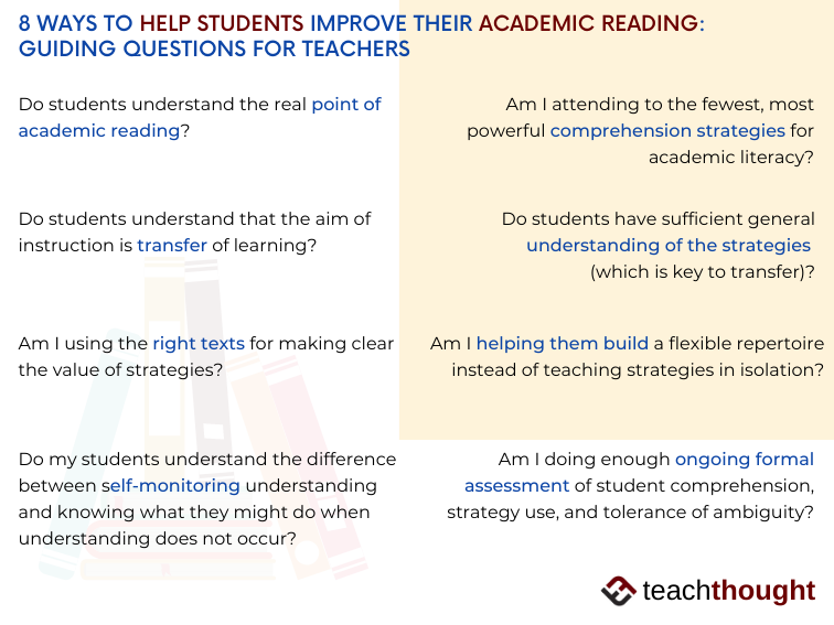 8 Ways To Help Students Improve Their Academic Reading