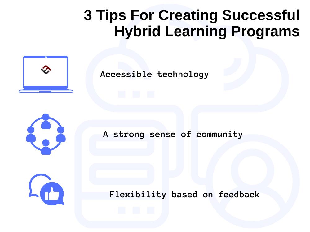 image providing tips for hybrid learning programs in schools